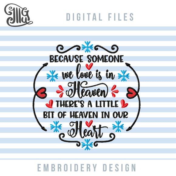 Sympathy Embroidery Designs, Grief Embroidery Patterns, Memory Pillow Machine Embroidery, in Loving Memory Embroidery Files, Loss Pes Files, Memorial Embroidery, Christmas Ornaments Embroidery-by Illustrator Guru