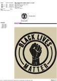 Black Lives Matter Embroidery Patterns With Power Fist Design for Machine Embroidery Patches, BLM 2020 Embroidery Stitches, Masks Pes Files, Black Power Embroidery, Civil Rights Protest Embroidery,-by Illustrator Guru
