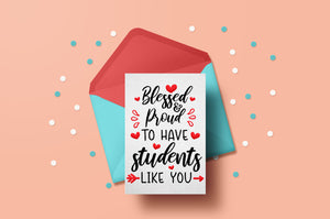 Printable teacher valentine cards for students-by Illustrator Guru