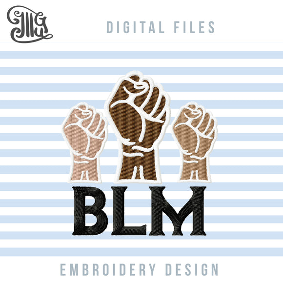 BLM Embroidery Designs, Black Lives Matter Embroidery Patterns, Power Fist Applique, I Can T Breathe Pes Files, Face Masks Embroidery Downloads, Equality Embroidery, 2020 Protest Jef Files, Civil Rights Movement-by Illustrator Guru