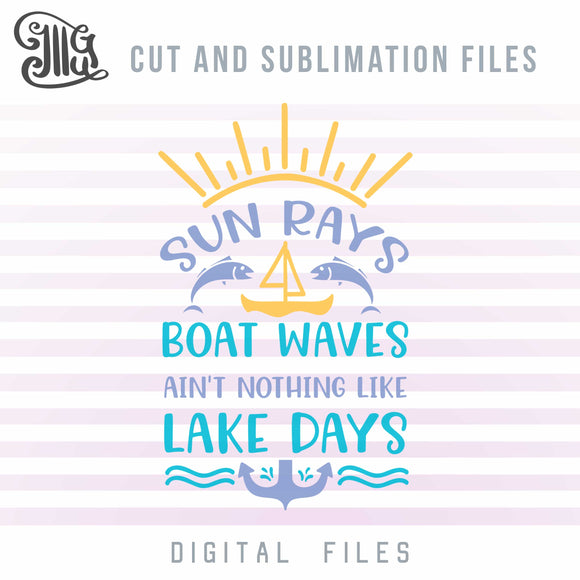 Lake Svg, Waves PNG, Anchor Svg, Sun Svg Cutting Files, Nautical Svg, Fishing Svg, Summer Svg, Outdoor Svg, Vacation Svg, Lake Sayings Svg, Lake Shirt Svg,-by Illustrator Guru