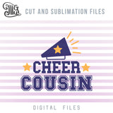 Cheer Cousin SVG, Cheer Megaphone PNG, Cheer SVG Images, Cheer Bow Sublimation Downloads, Cheer Horn Clipart, Cheer Sayings for Shirts,-by Illustrator Guru