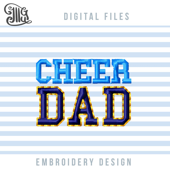 Cheer Dad Embroidery Patterns, Cheerleading Embroidery Designs for Machine, Cheer Cap Embroidery, Football Pes Files, Cheer Shirt Embroidery, Sport Embroidery Letters-by Illustrator Guru