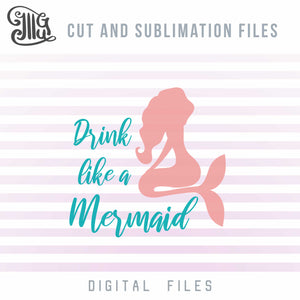 Drinking Svg, Funny Mermaid Svg, Drinking Pouch Sayings Svg, Summer Break Svg, Alcohol Svg, Drinking Sayings, Drinking Quotes, Mermaid Cut Files-by Illustrator Guru
