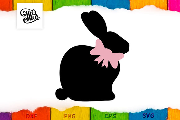 Easter bunny with bow svg | Girl Easter bunny svg | Cute Easter bunny svg | baby girl Easter svg-by Illustrator Guru
