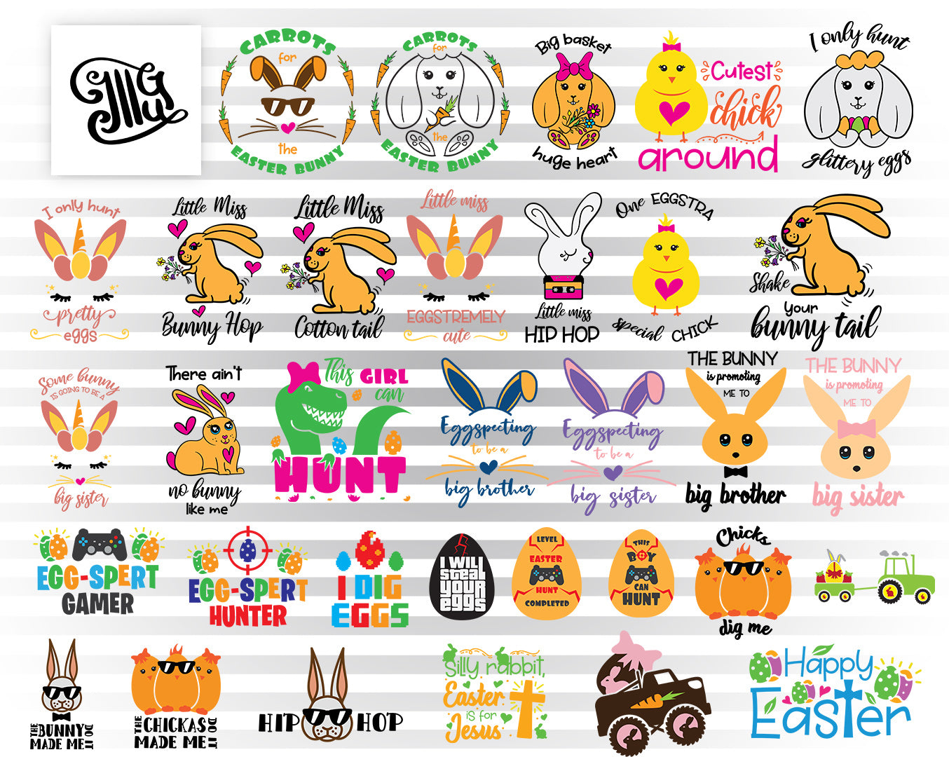 Easter Svg Bundles for Kids | Boy Easter Shirt Svg | Easter Bunny Svg Files-by Illustrator Guru