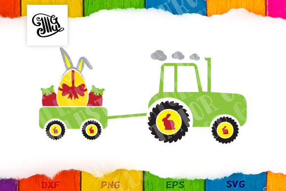 Tractor svg | Kids Easter svg | Farm Easter svg-by Illustrator Guru