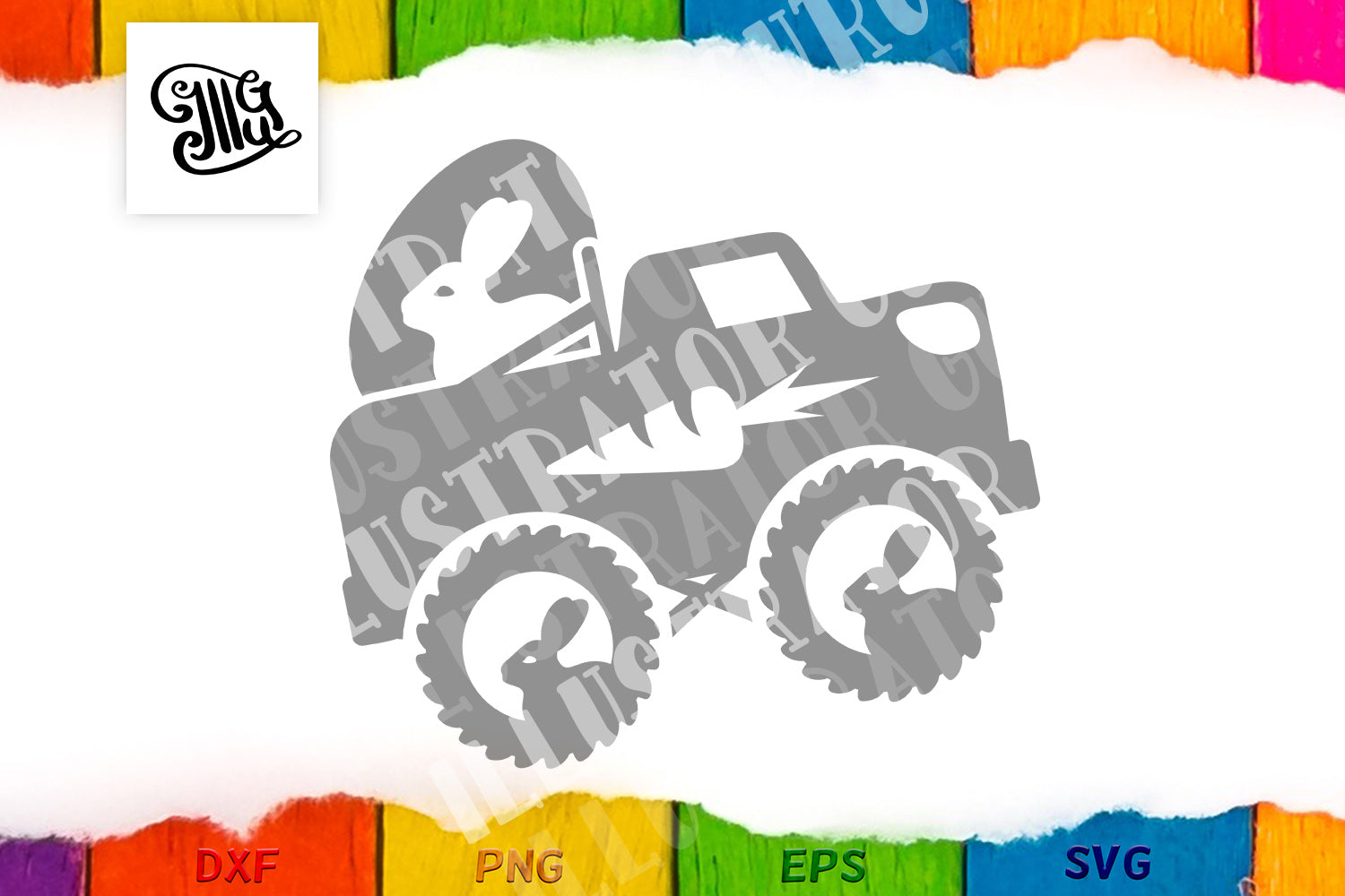 Easter truck svg | Boy Easter svg | Easter eggs svg | Easter bunny svg,-by Illustrator Guru