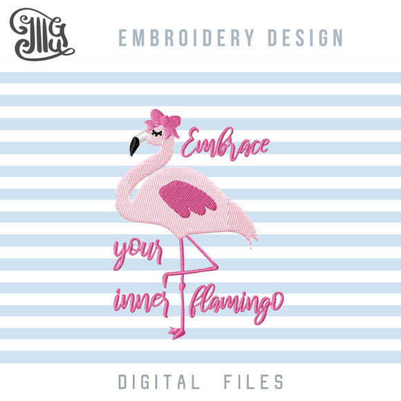 Flamingo Embroidery Design Free, Flamingo Embroidery Pattern Free, Flamingo Sayings Embroidery Free, Summer Embroidery Free, Beach Towel Embroidery Free, Tropical Embroidery Free, Free Embroidery-by Illustrator Guru