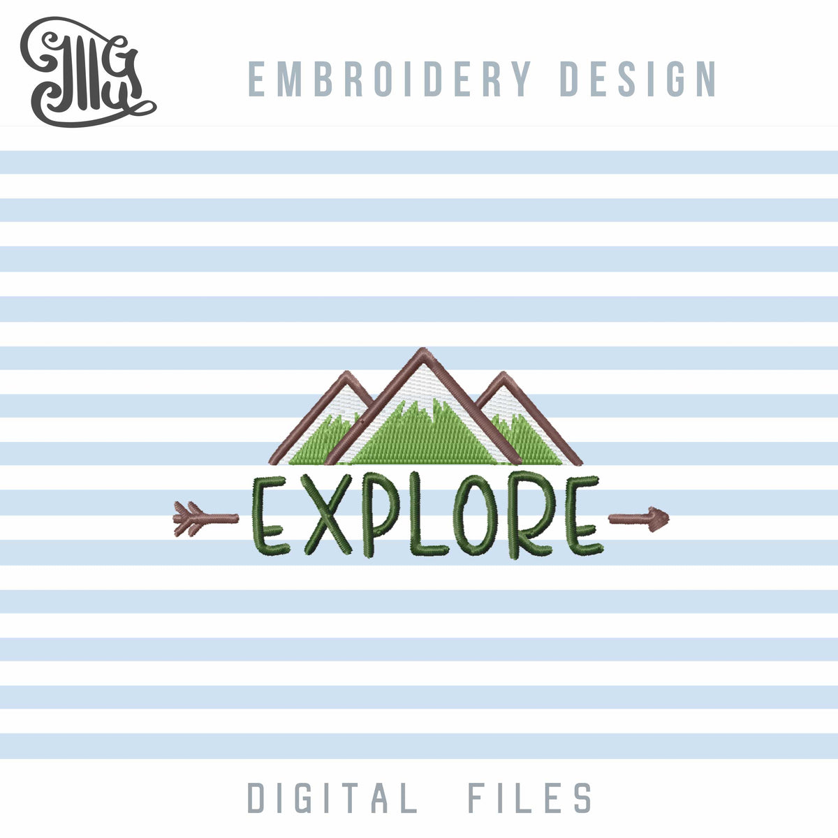 Camping Embroidery Designs, Travel Embroidery Pattern