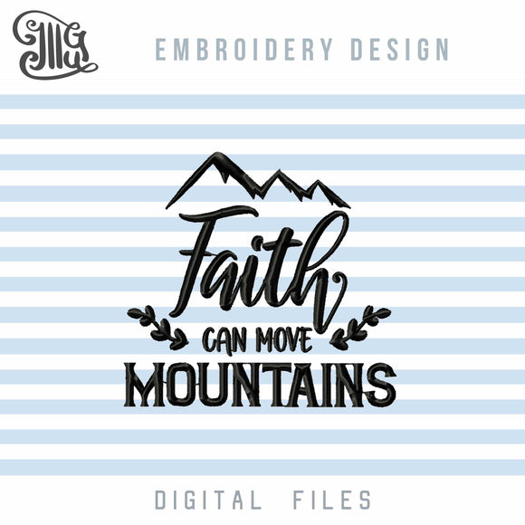 Religious Embroidery Pattern, Faith Embroidery Designs, Mountains Embroidery Files. Bible Verses Embroidery Stitches, Religious Sayings Embroidery,-by Illustrator Guru
