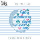 Loving Memory Machine Embroidery Patterns, Christmas Ornaments Embroidery Designs, Sympathy Embroidery Files, Memorial Pes Files, Loss Dst Files, Grief Jef Files, Memory Shirt, Memory Pillow-by Illustrator Guru