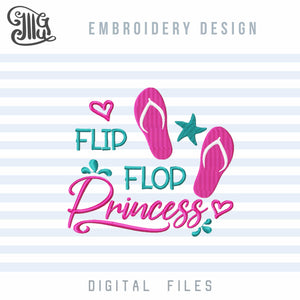 Filp Flop Embroidery Designs Free, Summer Embroidery Patterns Free, Beach Sayings Embroidery Files Free, Princess Embroidery, Starfish Embroidery Stitches, Wave Embroidery, Nautical Embroidery, Vacation Embroidery, free embroidery-by Illustrator Guru