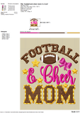 Football and Cheer Mom Embroidery Designs, Football Mom Embroidery Patterns, Cheer Mom Embroidery Files, Cheer Mom Shirts, Mom Caps Embroidery, Mom Face Masks Embroidery, Cheer Embroidery, Cheerleading Embroidery, chool sports embroidery-by Illustrator Guru