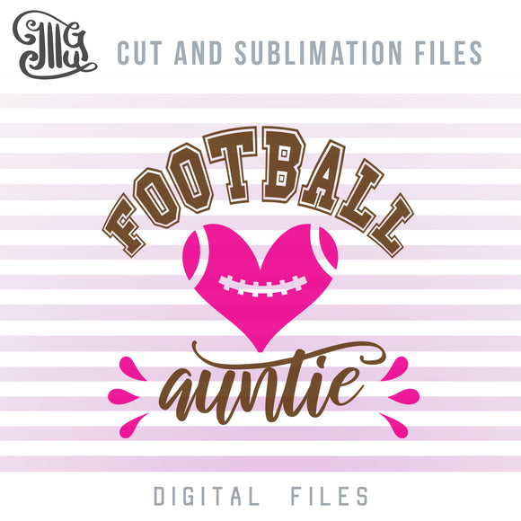 Football Aunt SVG Files, Football Clipart, Football Shirt SVG, Football PNG for Sublimation, Football Heart SVG, Football Laces SVG, Football Silhouette SVG, Football Stitches SVG, Football SVG Image, Football Bow SVG, American Football SVG,-by Illustrator Guru
