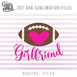 Football Girlfriend SVG, Football Clipart Black and White, Football Ball PNG, Football Heart Clipart, Football Silhouette SVG, Football Bow SVG, Football Shirt SVG, American Football SVG, Football Decal SVG,-by Illustrator Guru
