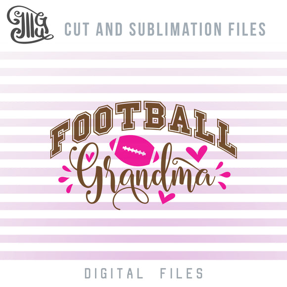 Football Grandma SVG Designs, Football Nana SVG Files, Football Clipart Transparent, Football Shirt SVG, Football Silhouette SVG, American Football SVG, Football Cheer SVG, Football Decal SVG,-by Illustrator Guru