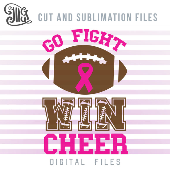 Breast Cancer Awareness SVG, Cheerleading SVG, Football Clipart, Cheer Bow Sublimation Downloads, Cheer Mom Shirts SVG, Cheer Mom Sublimation,-by Illustrator Guru