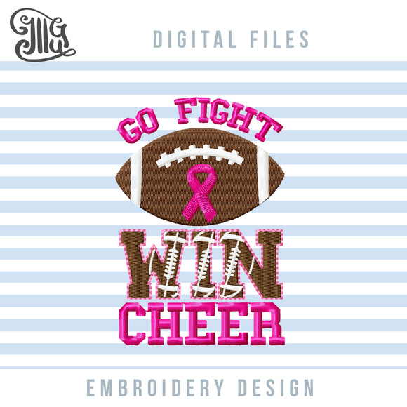 Breast Cancer Embroidery Patterns, Football and Cheer Embroidery Designs, Football Letters Embroidery Files, Pink Ribbon Awareness Pes Files, Cheerleading Embroidery, October Embroidery, Shirt Embroidery, Cap Embroidery-by Illustrator Guru