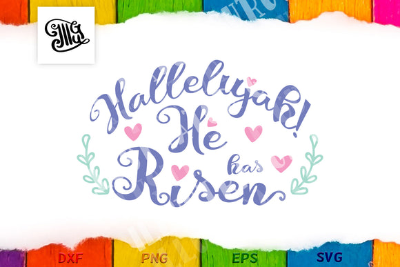 Easter religious svg | Hallelujah! He has Risen svg | women Easter svg-by Illustrator Guru