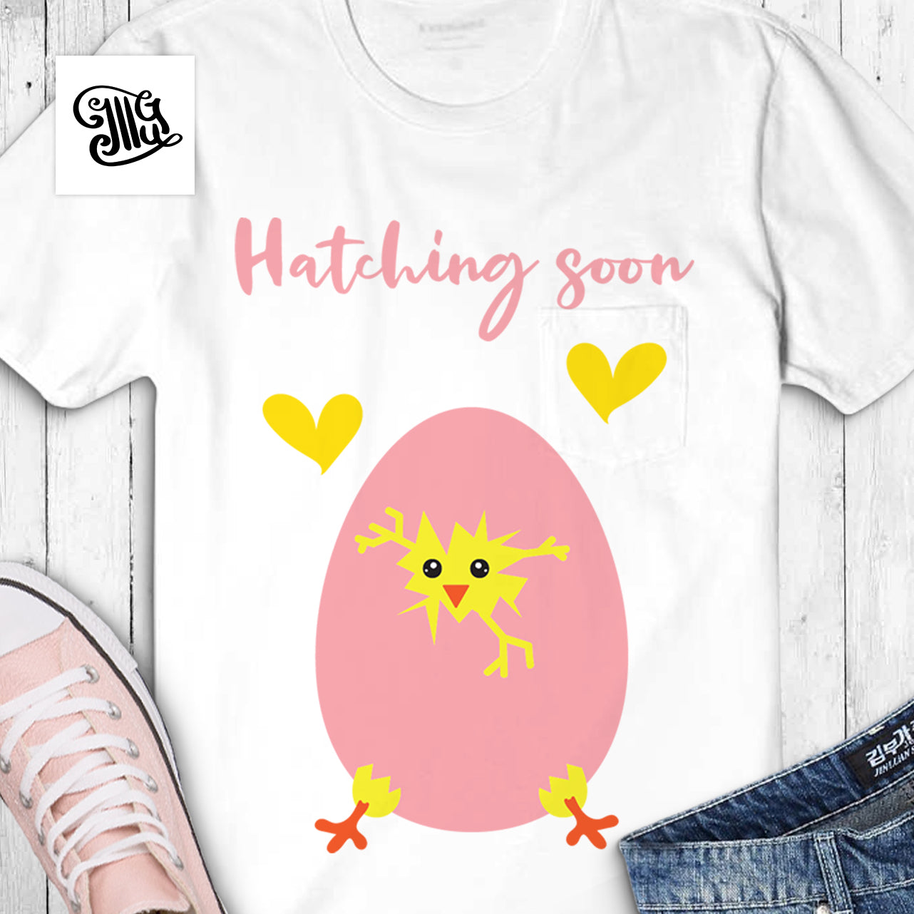 89bda984 Hatching soon svg, pregnancy svg, chick hatching egg svg, baby girl  announcement svg ...