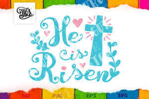 Religious svg | He is Risen svg | Easter svg-by Illustrator Guru