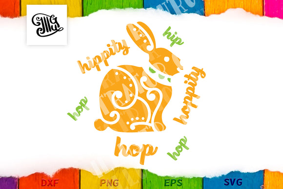 Hippity Hoppity svg | Easter bunny svg | Kids Easter svg-by Illustrator Guru