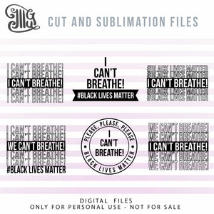 I can't breathe SVG cut files FREE download and sublimation images, african american awareness clipart, 2020 protest sayings, anti racism quotes, I can t breathe svg files for diy t-shirts, posters, hats, free svg-by Illustrator Guru