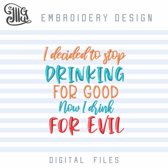 Drinking Embroidery Designs Funny, Wine Embroidery Sayings, Alcohol Embroidery, Beer Embroidery, Cocktail Embroidery,Birthday Party Embroidery, Tea Towels Embroidery, Wine Bags Embroidery, Drinking Shirts Embroidery,-by Illustrator Guru