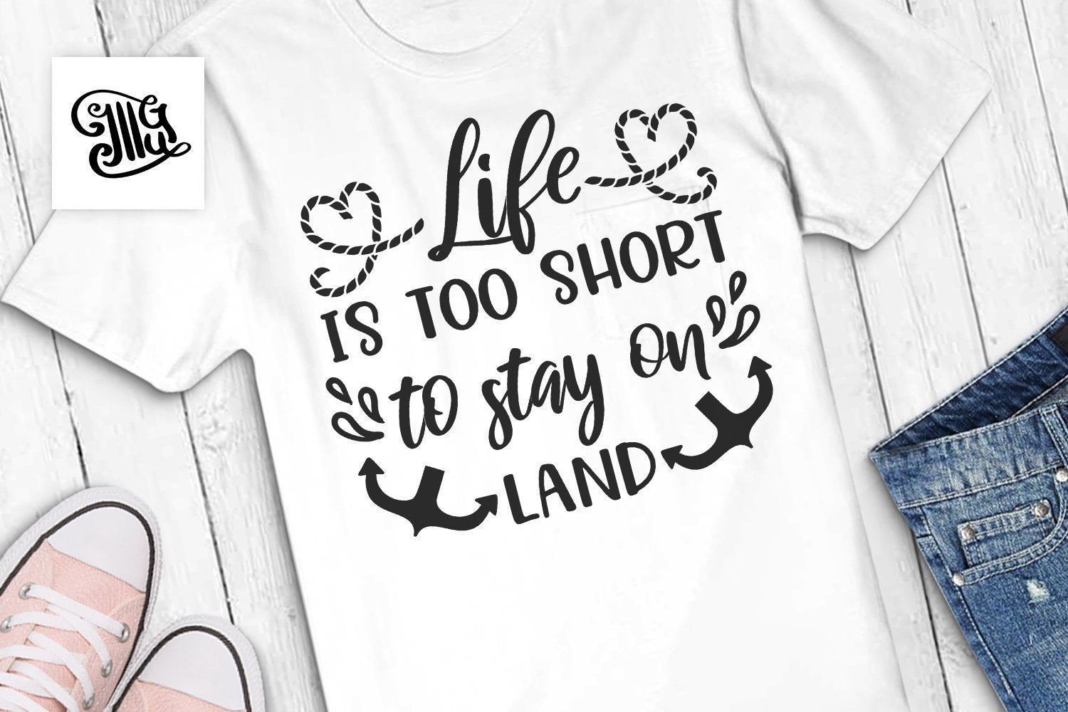 Cruise svg, Life is too short to stay on land svg, ship trip svg, anchor svg, vacation svg, cruise shirt svg, nautical svg-by Illustrator Guru