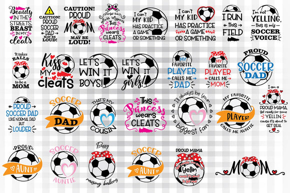 Soccer svg bundle, soccer svg, soccer sayings, soccer girl svg, soccer dad, soccer player mom svg, soccer aunt svg, soccer cousin svg,-by Illustrator Guru