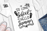 So long school Hello summer SVG, beach svg, summer svg, teacher svg, beach quotes svg, summer sayings, beach clipart,-by Illustrator Guru