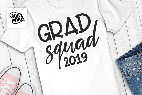 Graduation svg 2019, graduation 2019, GRAD SQUAD svg, graduation cap svg, class of 2019 svg, senior graduation svg, graduation clipart,-by Illustrator Guru