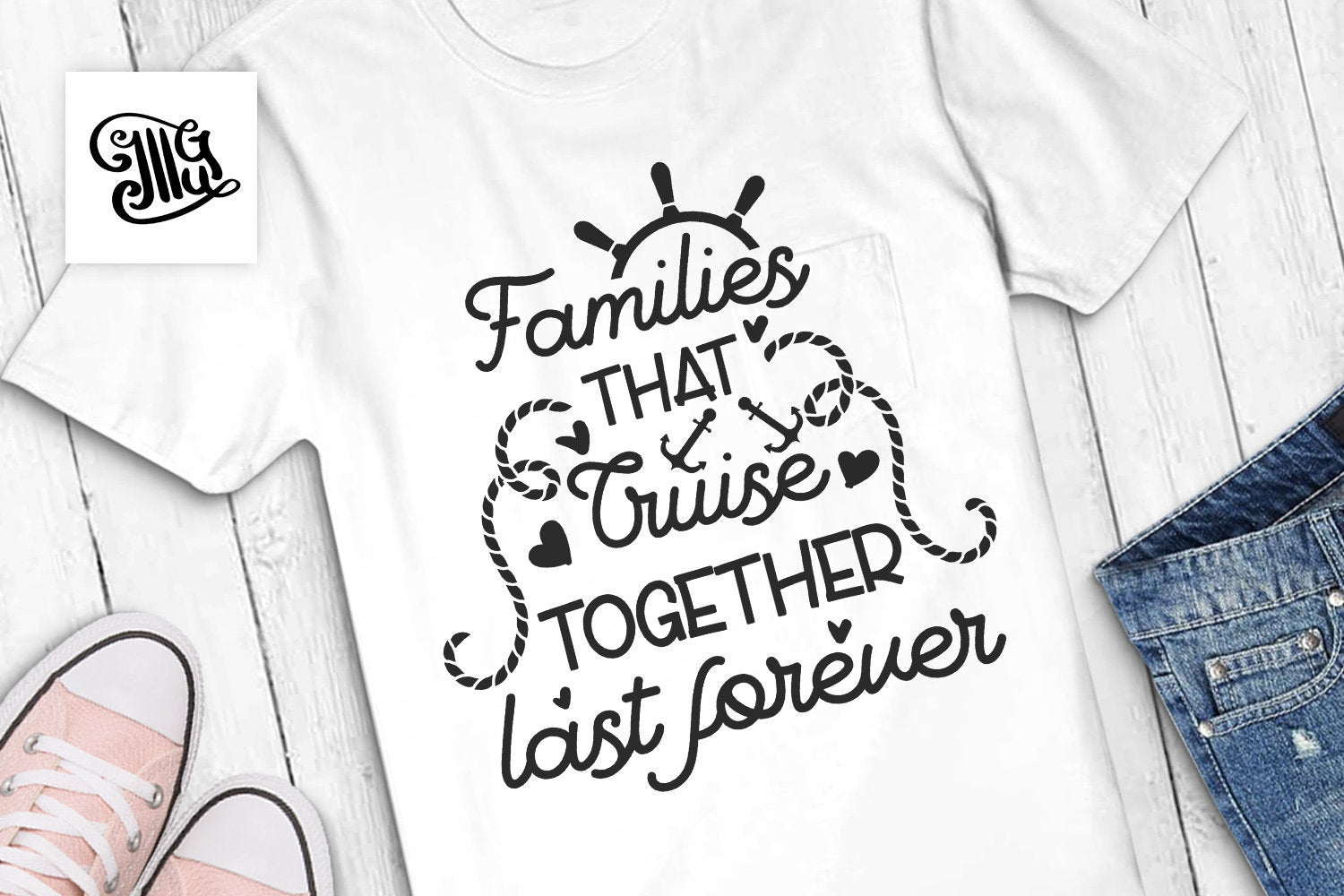 Families that cruise together last forever svg, cruise svg, anchor svg, cruise hair svg, vacation svg, cruise shirt svg, nautical svg,-by Illustrator Guru