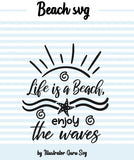 Beach Sayings Svg Cut Files, Seashell Svg, Starfish Svg, Sun Svg, Waves Svg, Ocean Svg, Beach Towel Ideas Sublimation Images-by Illustrator Guru