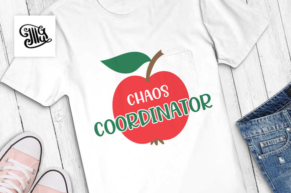 Chaos Coordinator SVG, teacher shirt svg, first day of school svg, teaching svg, teacher svg, heart with arrow svg-by Illustrator Guru