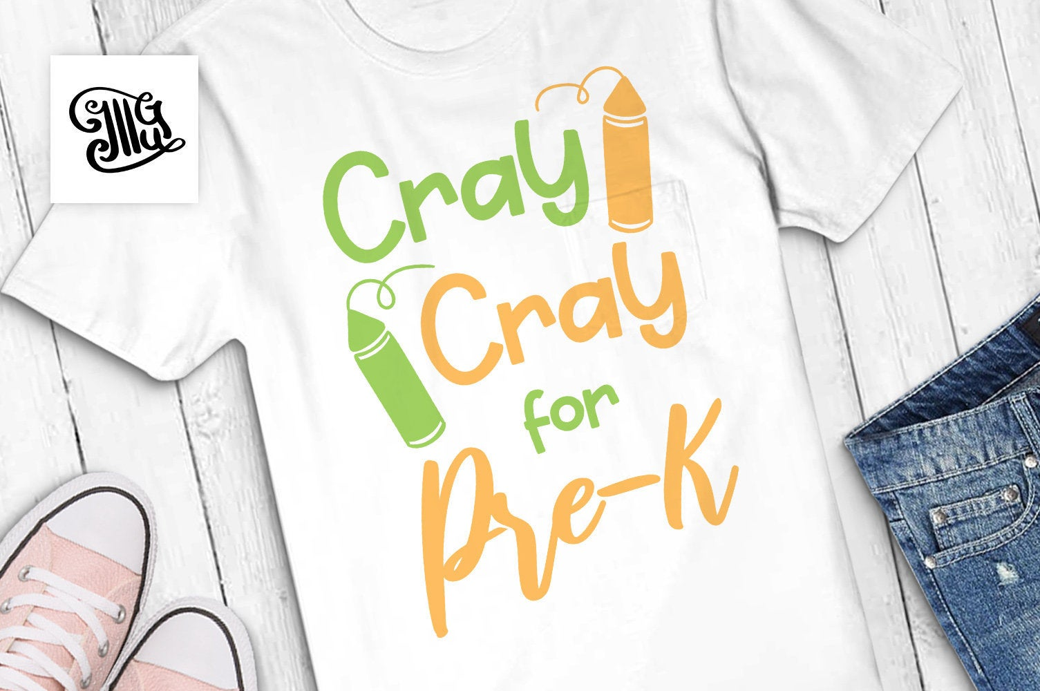 Cray Cray for pre-k SVG, preschool svg, teacher shirt svg, pre-k shirt svg, cute pre-k svg, first day of school svg, fall svg,-by Illustrator Guru