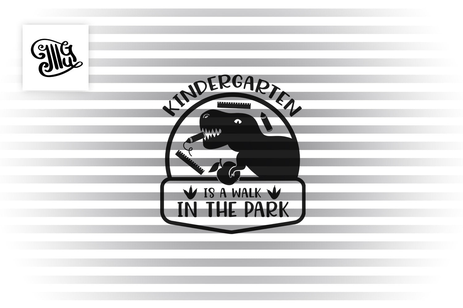Kindergarten is a walk in the park SVG, kindergarten svg, kindergarten svg, kindergarten boy svg, first day of school svg, dinosaur svg,-by Illustrator Guru