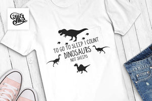 To go to sleep I count dinosaurs not sheeps svg, girl dinosaur svg, cute dinosaur svg, boy dinosaur svg, long neck dinosaur svg,-by Illustrator Guru