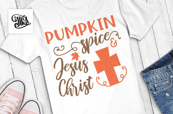 Pumpkin spice and Jesus Christ svg, pumpkin svg, fall svg, autumn svg, pumpkin spice svg, pumpkin clipart, happy fall svg, autumn clipart-by Illustrator Guru