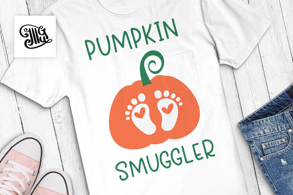 Pumpkin smuggler svg, pumpkin baby feet svg, pregnancy svg, maternity svg, funny maternity shirt svg, pumpkin svg, pumpkin baby svg-by Illustrator Guru