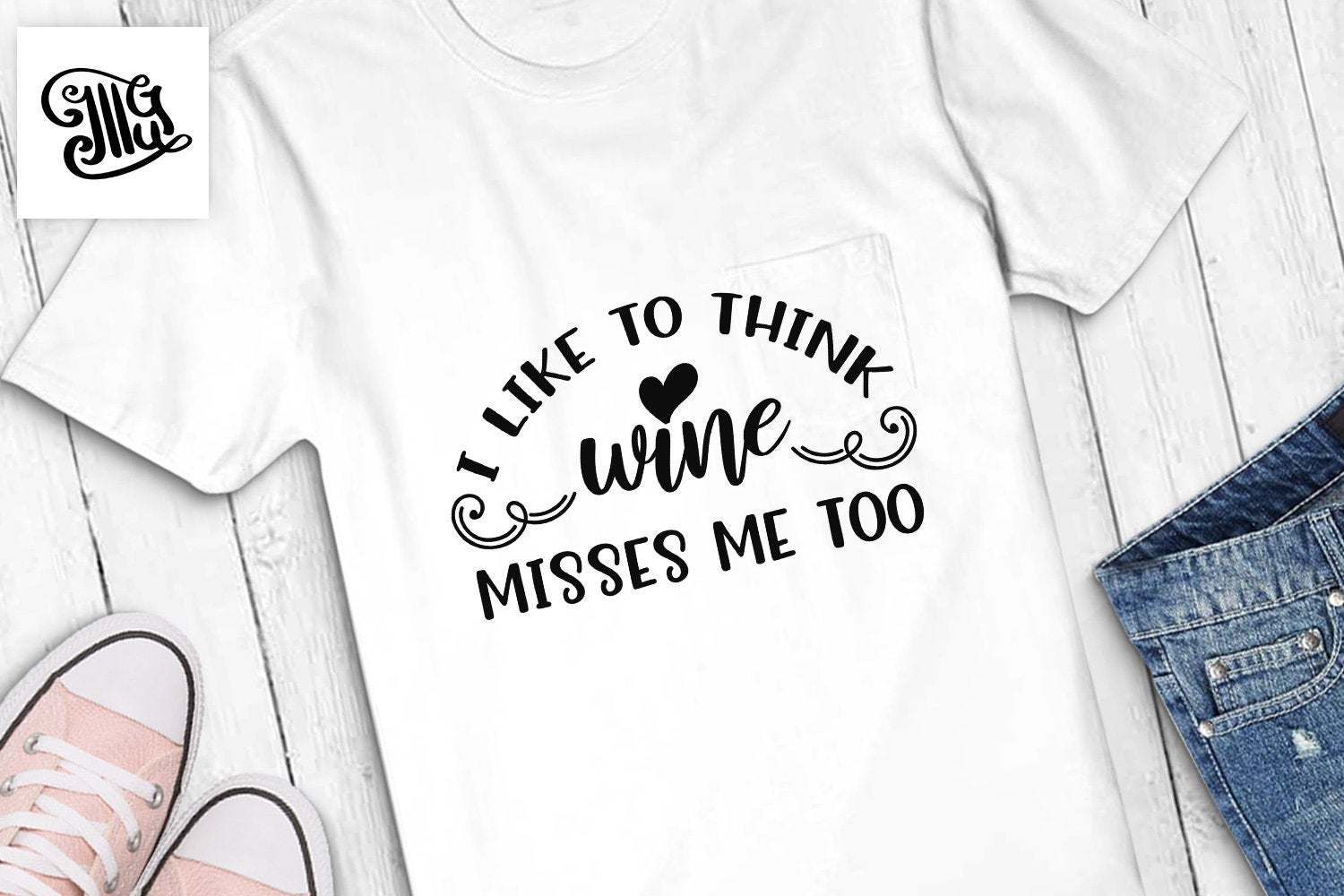 I like to think wine misses me too svg, pregnant svg, funny pregnancy svg, maternity svg, pregnancy clipart, pregnancy sayings,-by Illustrator Guru