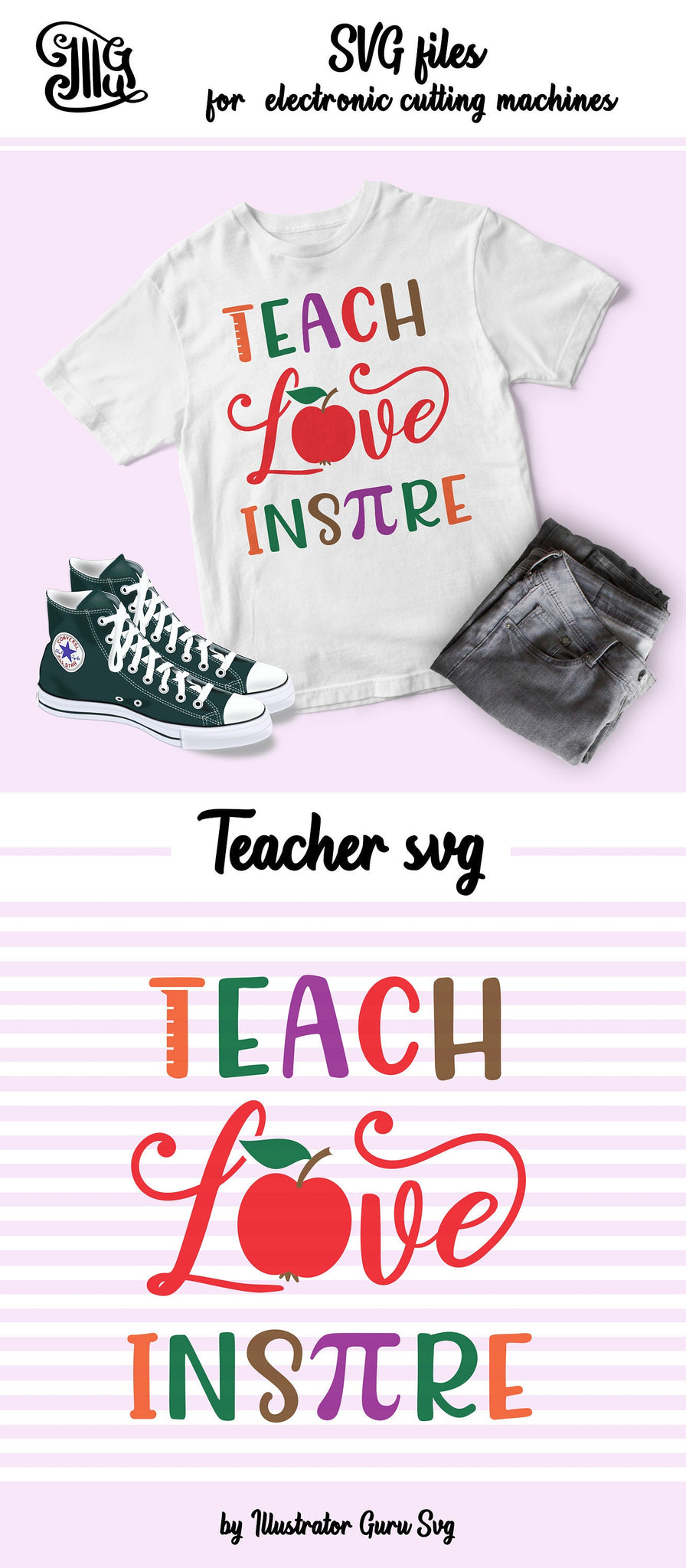 1519+ Teach Love Inspire Apple Svg Amazing SVG File