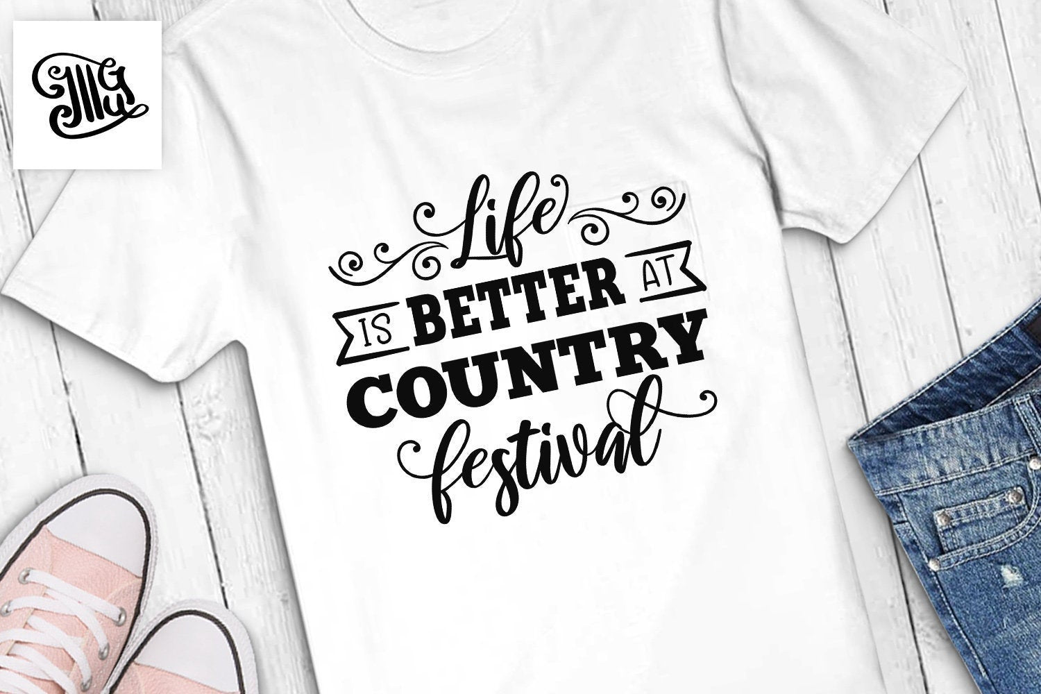Life is better at Country festival SVG, Southern SVG Files, Country music svg, wine SVG, Southern Saying Svg, country girl svg,-by Illustrator Guru