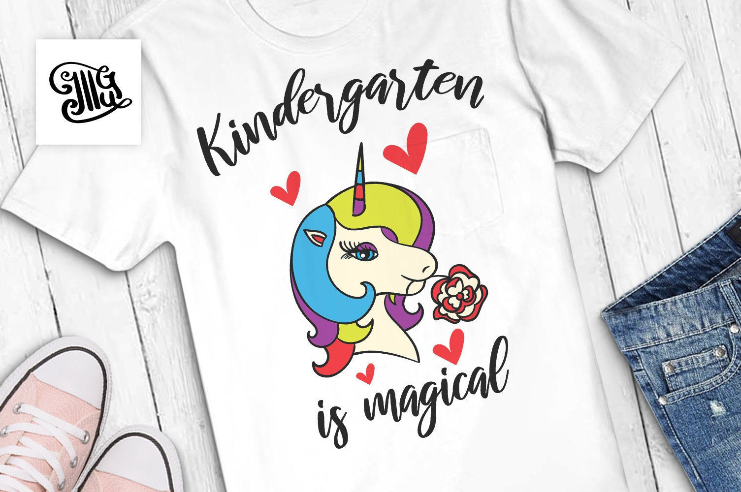 kindergarten is magical SVG, kindergarten svg, kindergarten svg, kindergarten girl svg, first day of school svg, unicorn svg,-by Illustrator Guru
