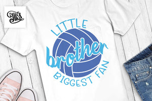 Little brother biggest fan svg, volleyball svg, volleyball bro svg, volleyball brother shirt svg, brother svg, voleyball sayings, voleyball-by Illustrator Guru