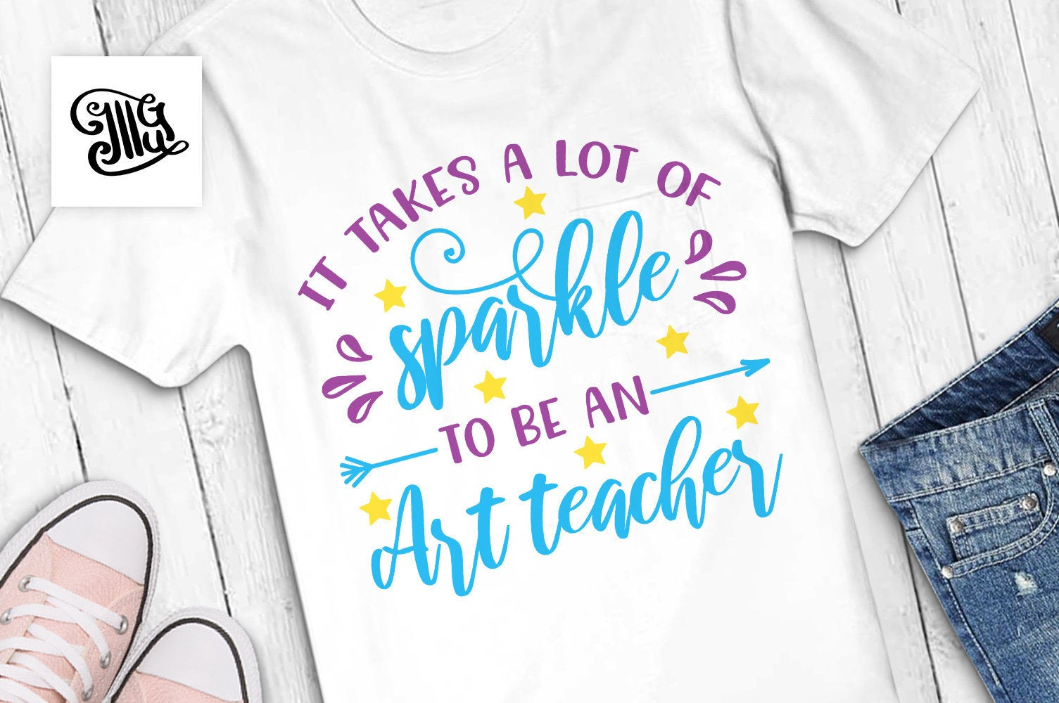 It takes a lot of sparkle to be an art teacher svg, art teacher clipart, art teacher shirt svg, art teacher sayings, art teacher quotes, svg-by Illustrator Guru