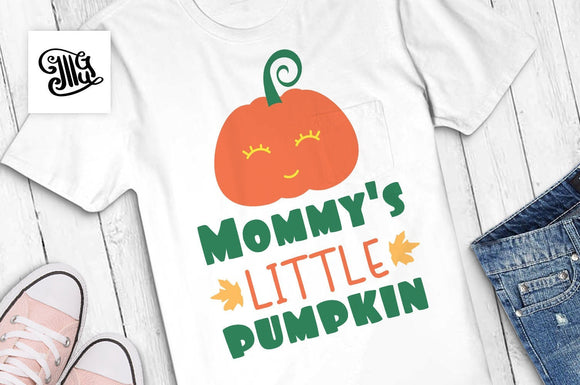 Mommy's little pumpkin svg, pumpkin face svg, fall svg, autumn svg, pumpkin baby svg, pumpkin clipart, happy fall svg, toddler svg,-by Illustrator Guru