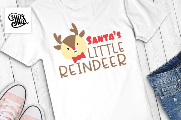 Santa's little reindeer svg, Christmas kids svg, Christmas reindeer svg, Christmas boy svg, Christmas girl svg, Christmas svg,-by Illustrator Guru
