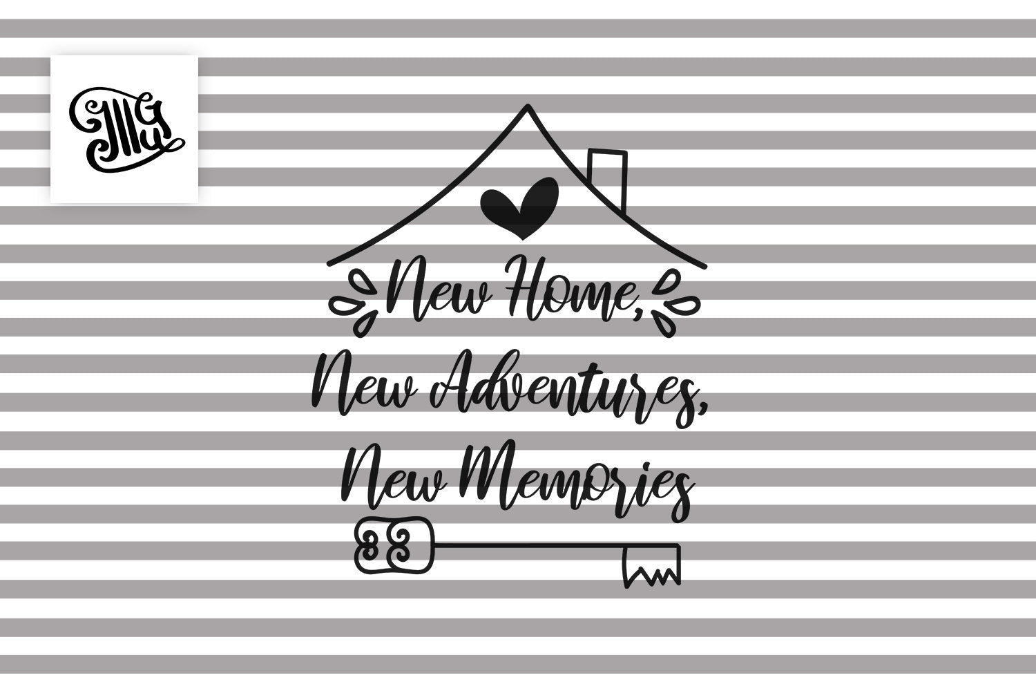 New home, new adventures, new memories SVG, Christmas new home svg, first christmas in new home svg, Christmas ornaments svg, Christmas sign-by Illustrator Guru